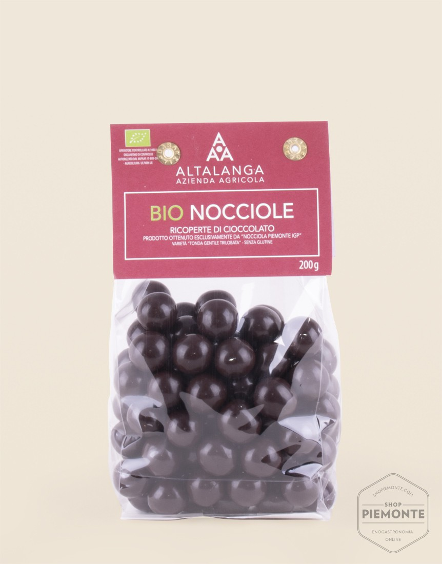 Nocciole Ricoperte di Cioccolato Bio sacchetto da 200g