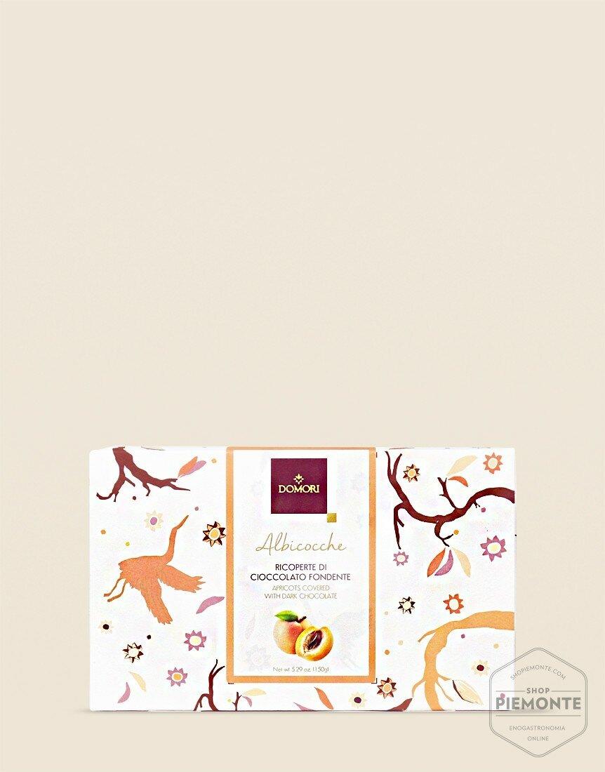 Filetti di Albicocca ricoperti di Cioccolato Fondente Domori 150gr