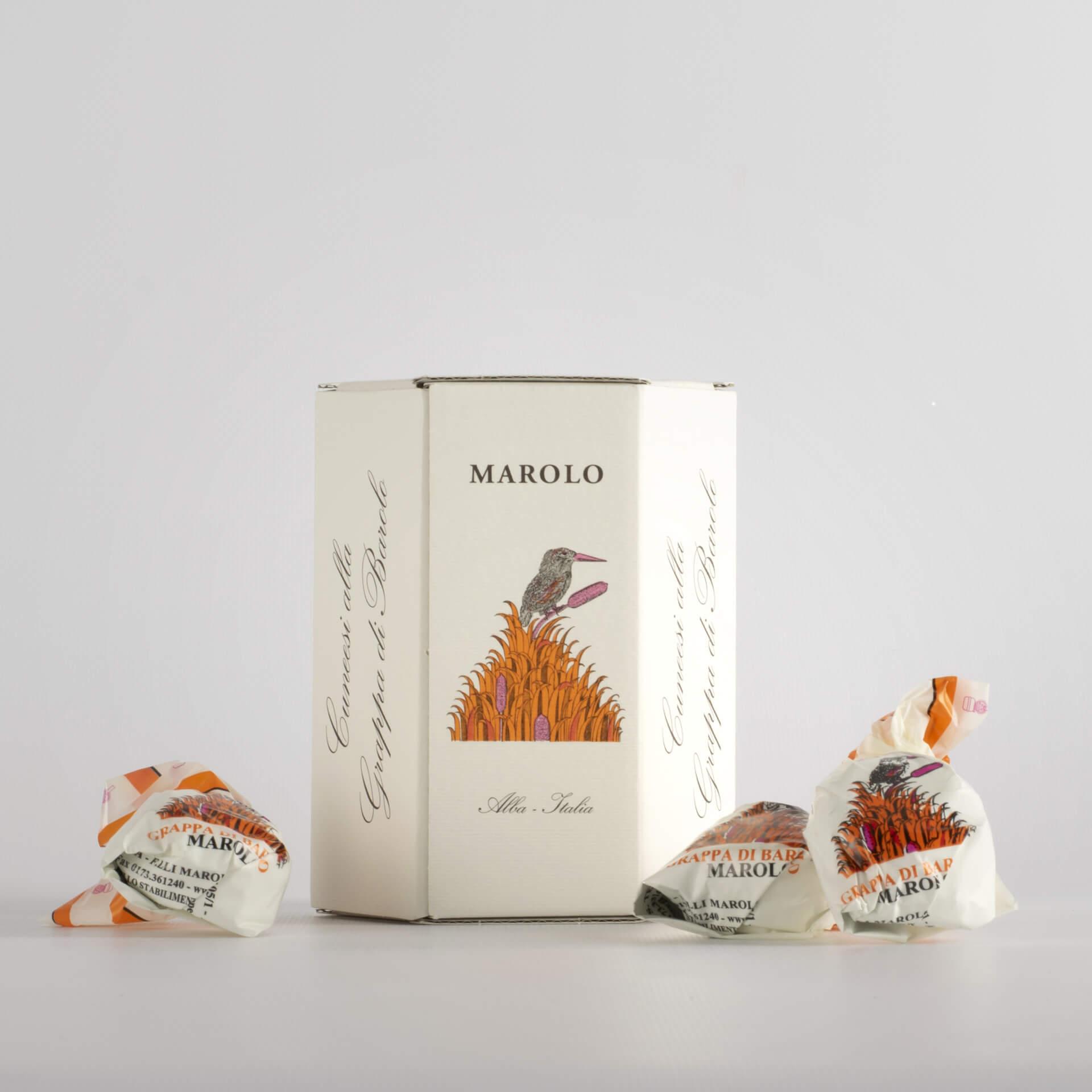 Barolo Grappa Cuneesi pralines - box 200 g