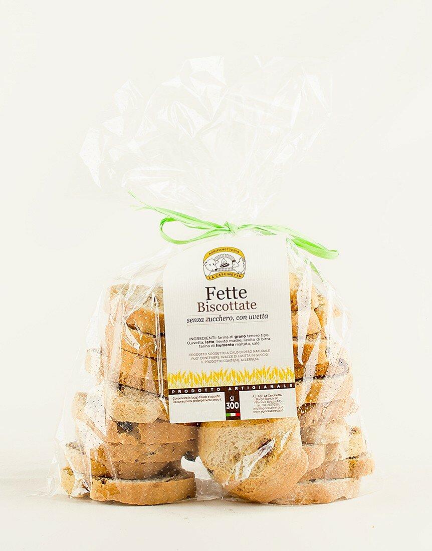Fette Biscottate senza zucchero con uvetta - 300 g