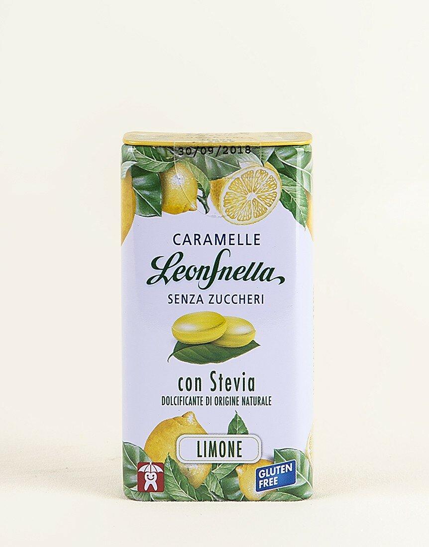 Caramelle Leonsnella stevia limone senza zucchero da 30g