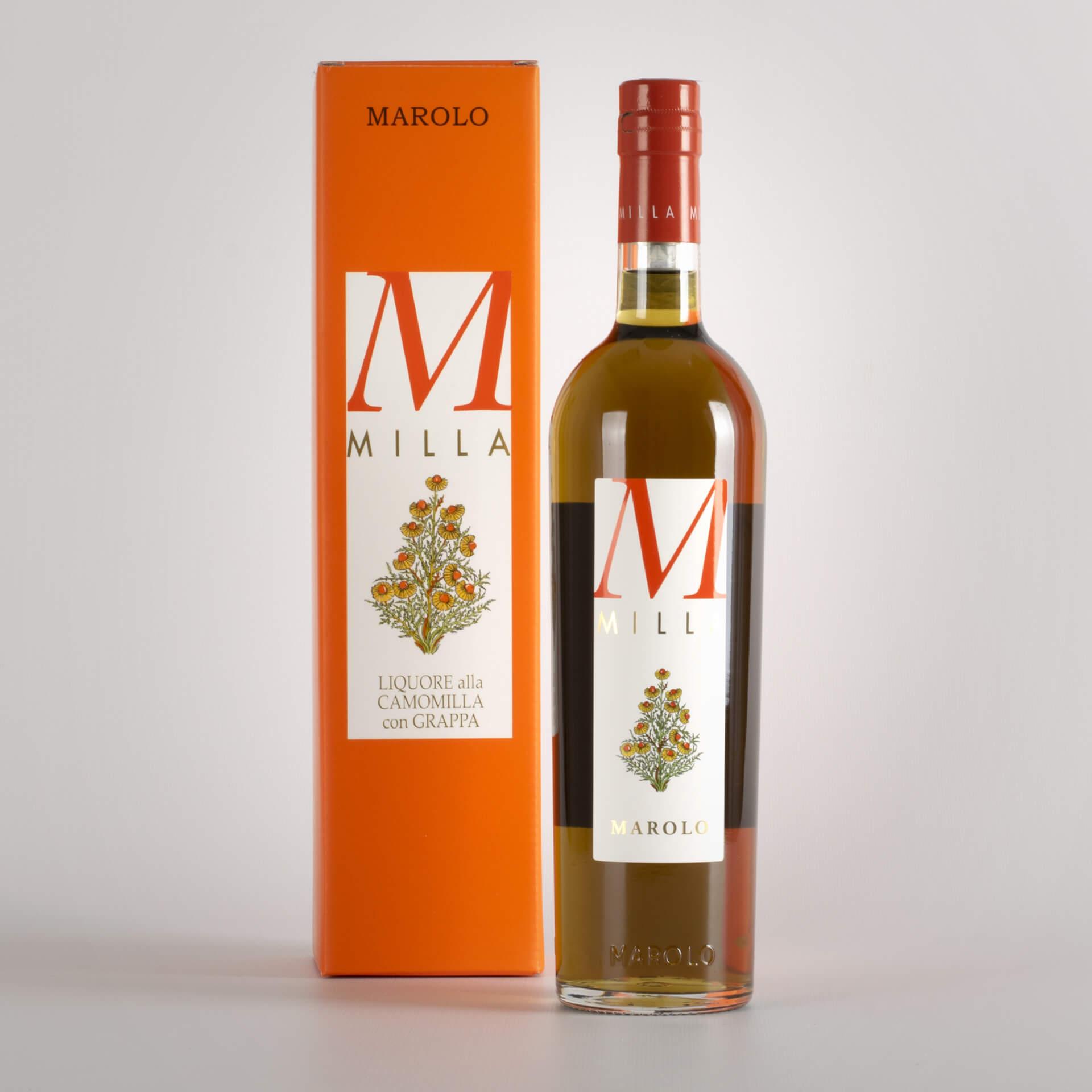 Milla chamomile liqueur with grappa
