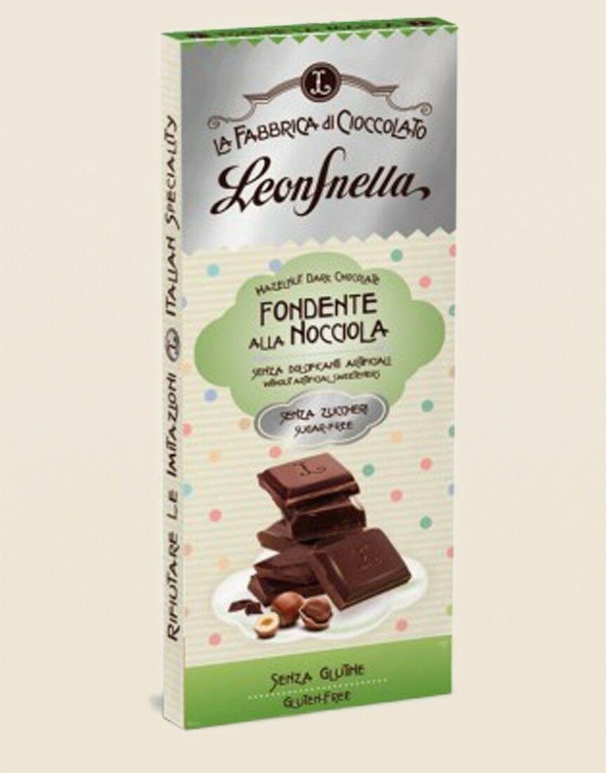 Tavoletta Cioccolato Senza Zuccheri Fondente alle Nocciole Piemonte IGP
