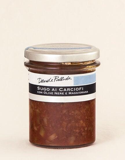 Artichokes, Black Olives and Majoram Sauce