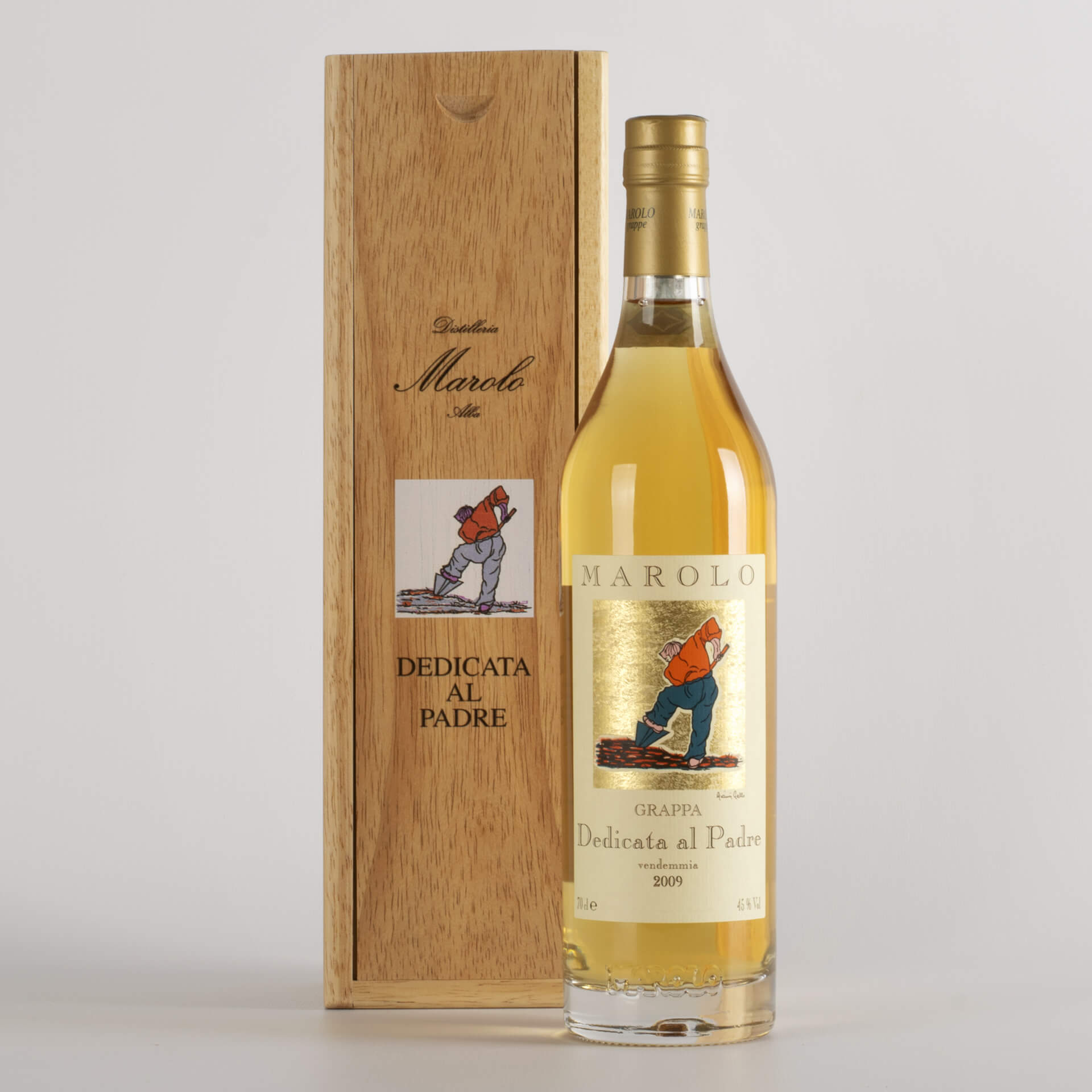 Grappa of the Father Barrique with wooden box