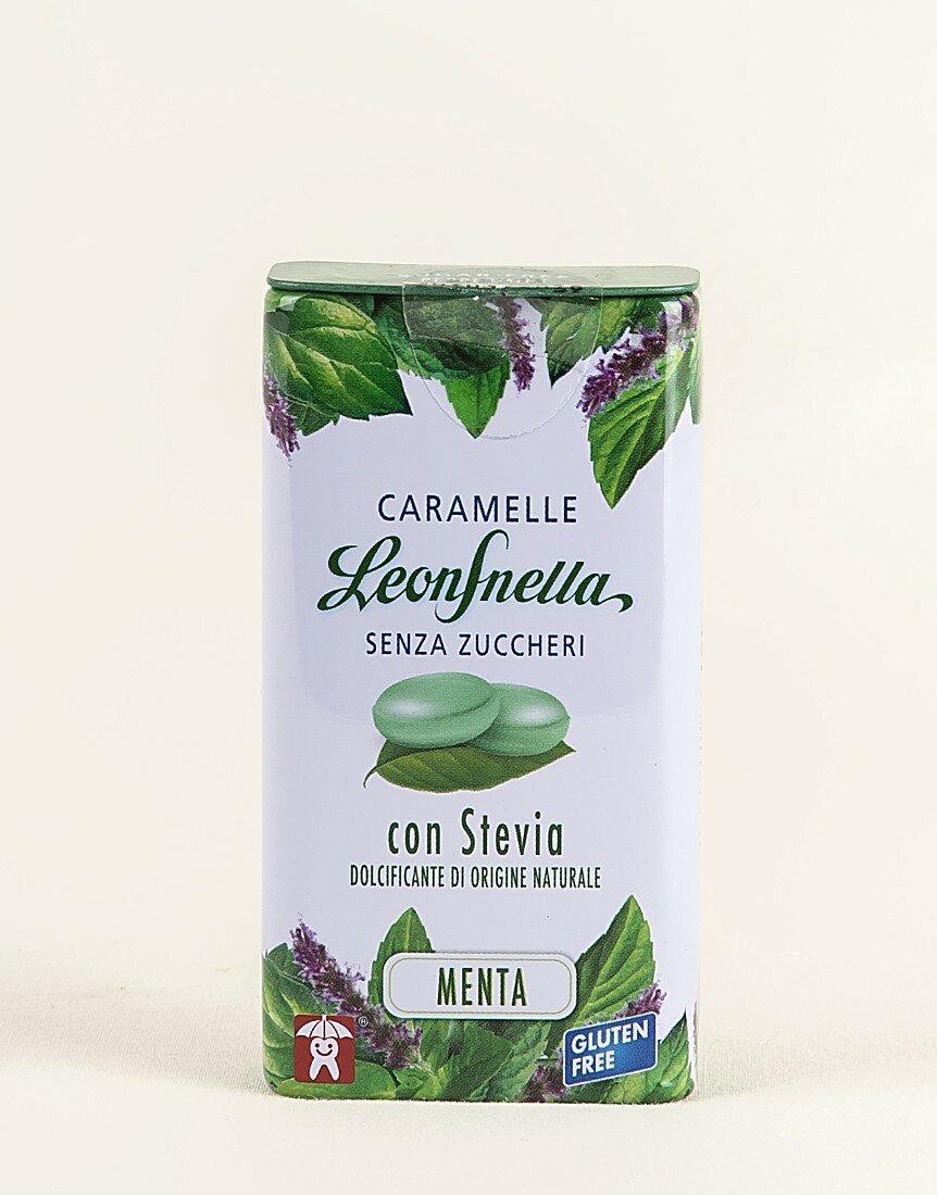 Caramelle Leonsnella stevia menta senza zucchero da 30g