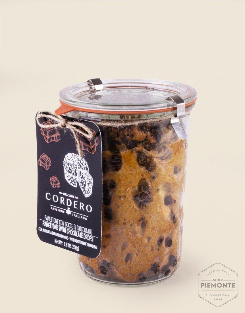 Panettone con Farina di Mais in Vasocottura Gocce di Cioccolato