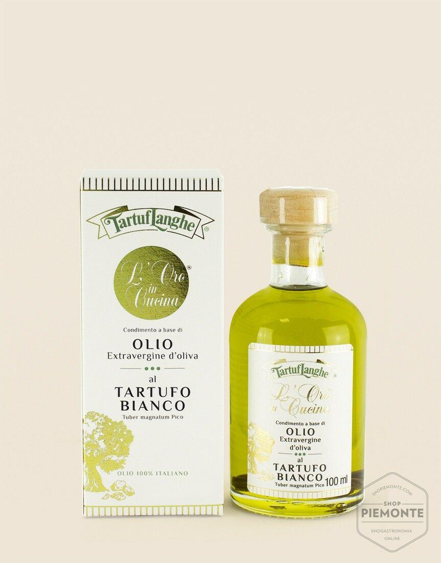 Olio extravergine di oliva con Tartufo Bianco a fette