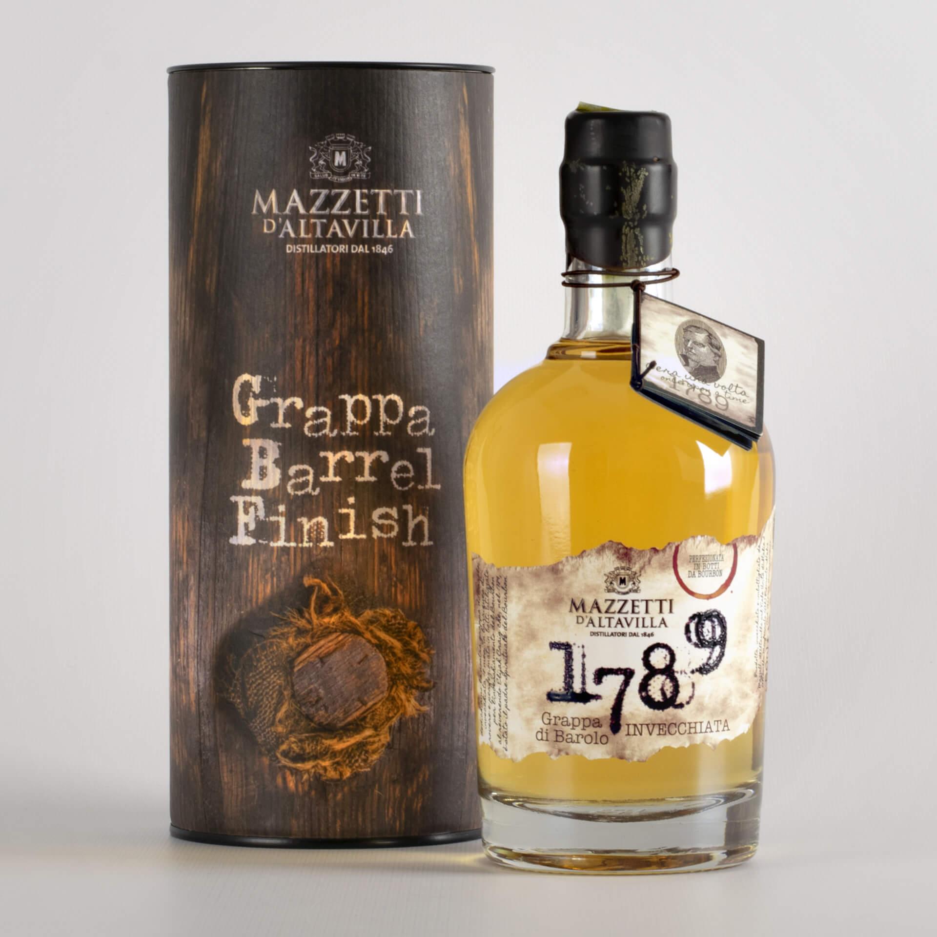 1789 Grappa di Barolo Bourbon in astuccio