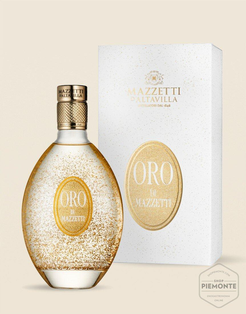 Oro Mazzetti Liquore a base di Grappa Mazzetti - con astuccio