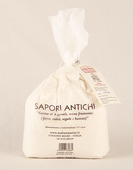 Farina Bio Sapori antichi - 1kg (Farro - Enkir - Segale - Kamut)