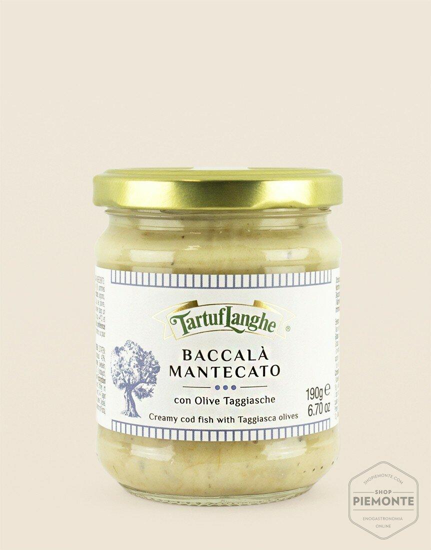 Baccalà Mantecato con olive Taggiasche