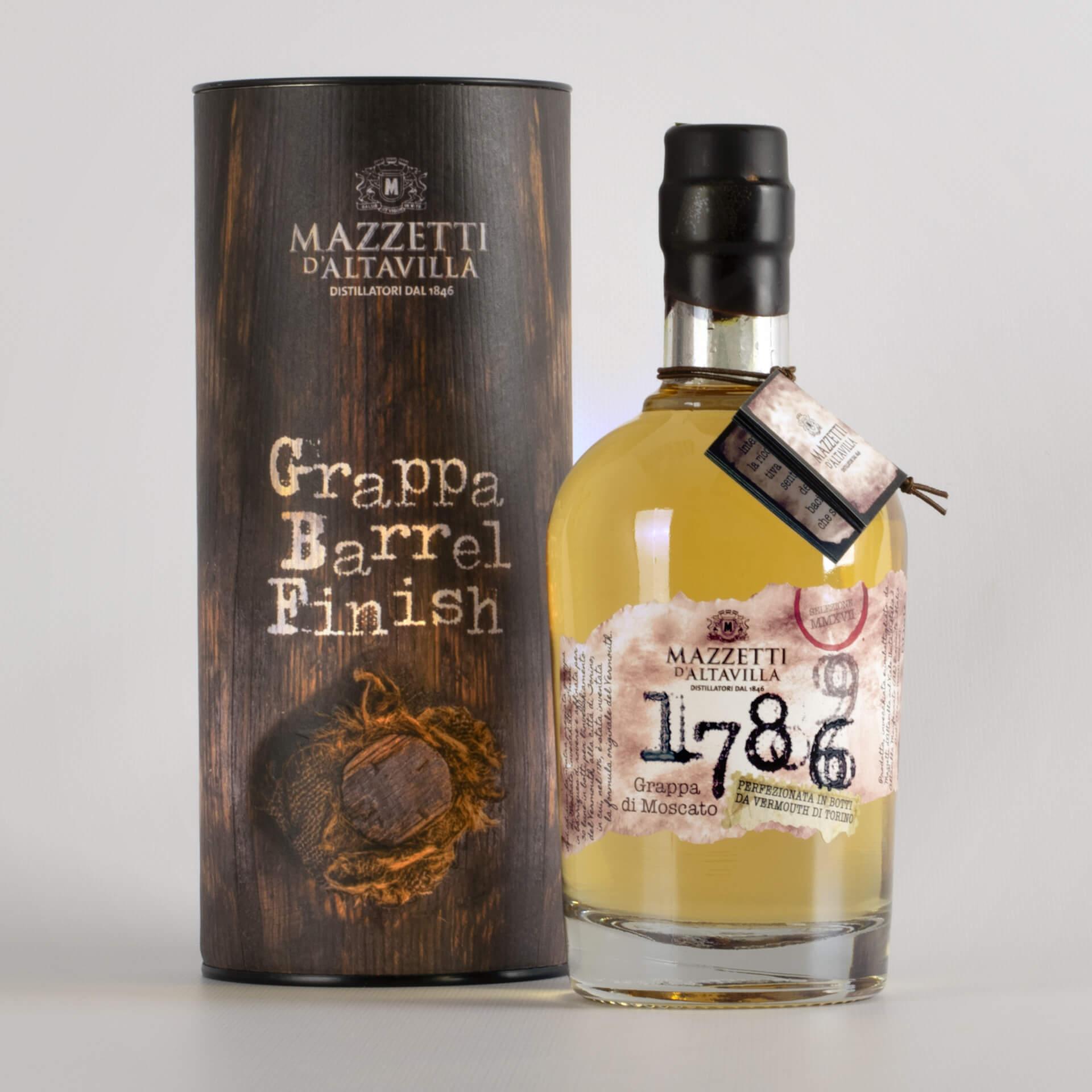 1786 Grappa di Moscato Vermouth di Torino in astuccio