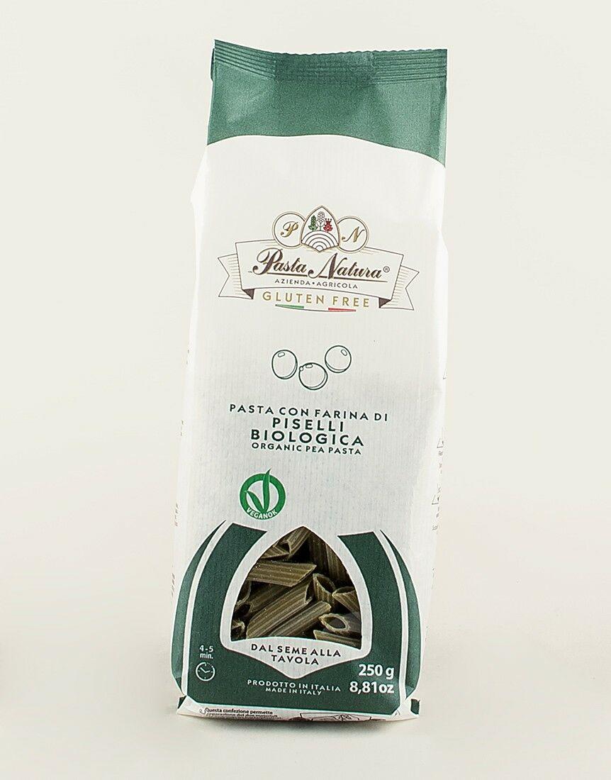 100% ORGANIC & VEGAN Pea Flavoured Penne (Pasta)