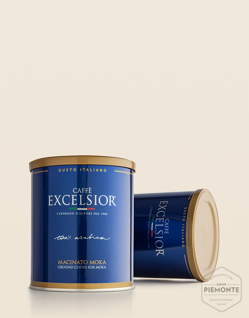100% Arabica Moka ground coffee in can