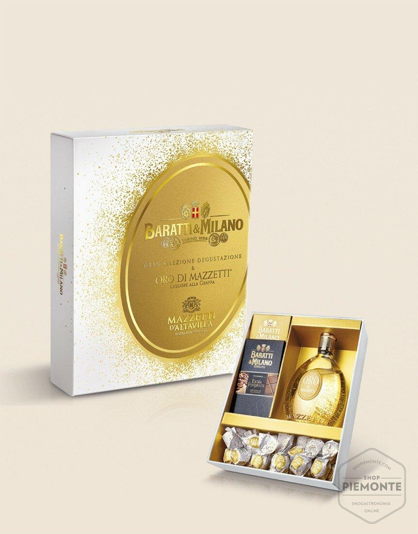 Grand Selection Gold Mazzetti and Baratti & Milano chocolate bars