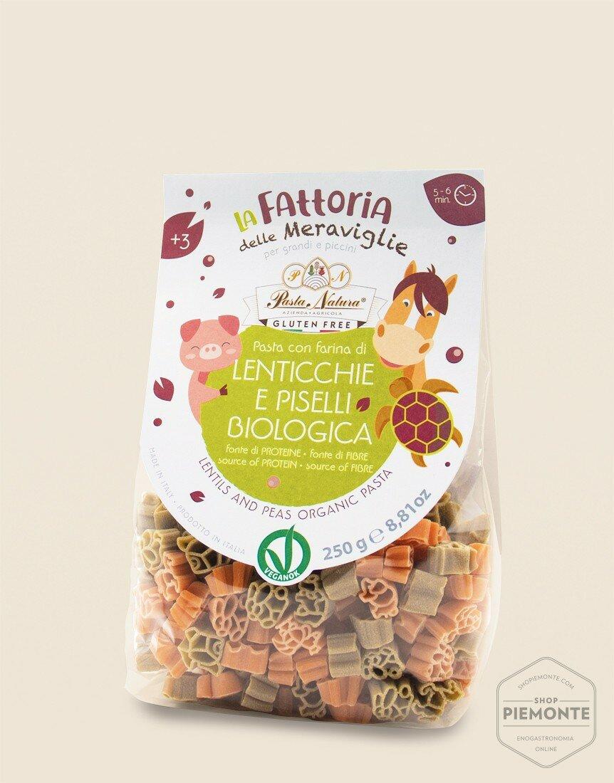 """""""Bicolor Lentils and Peas Bio & Vegan"""" Pasta Fattorie per Bambini"""