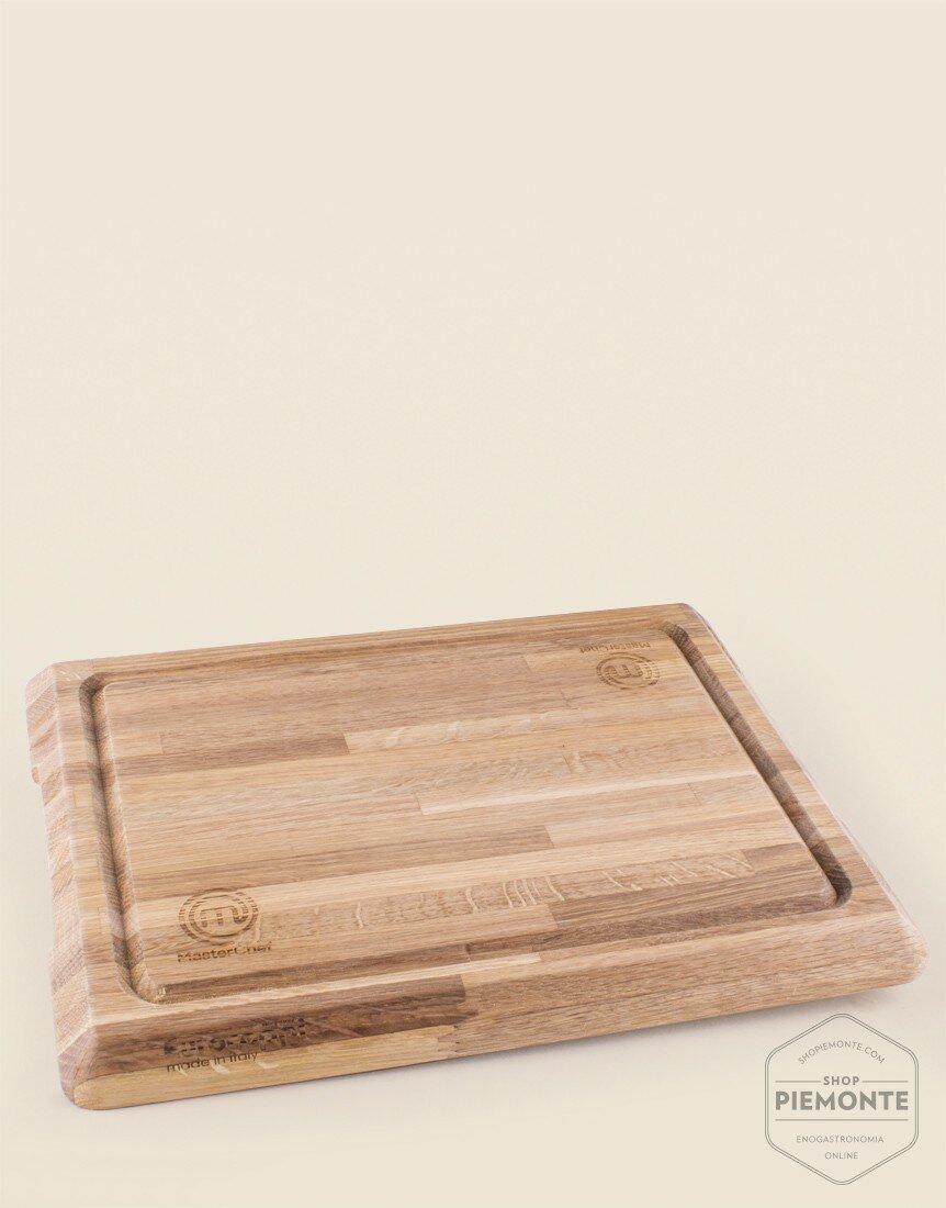 EUROCEPPI Tagliere in legno lamellare di rovere Masterchef cm 45x35