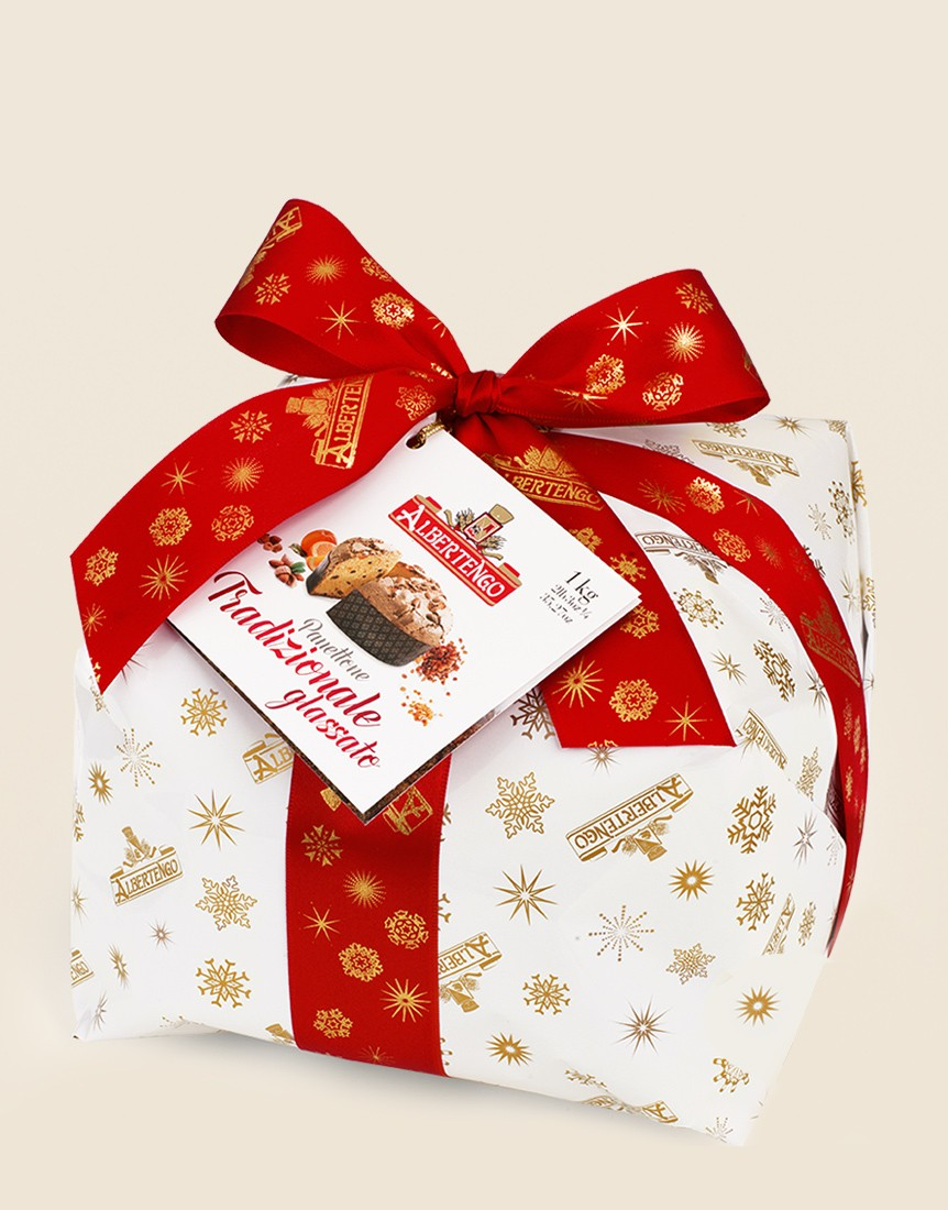 Traditional Frosted Albertengo Panettone 1kg