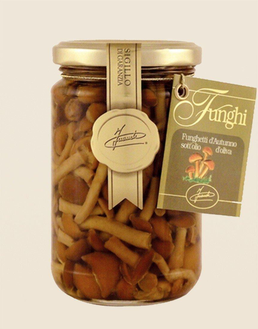 Autumn mushrooms in olive-oil