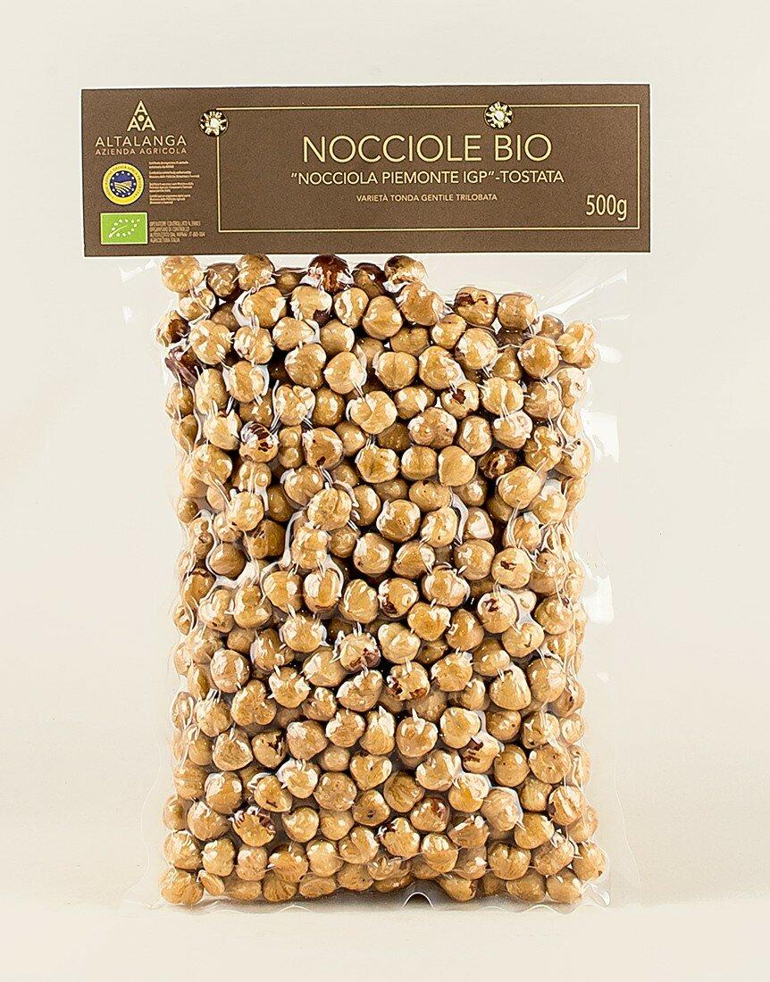 Organic Toasted Hazelnuts 500g vacuum pack