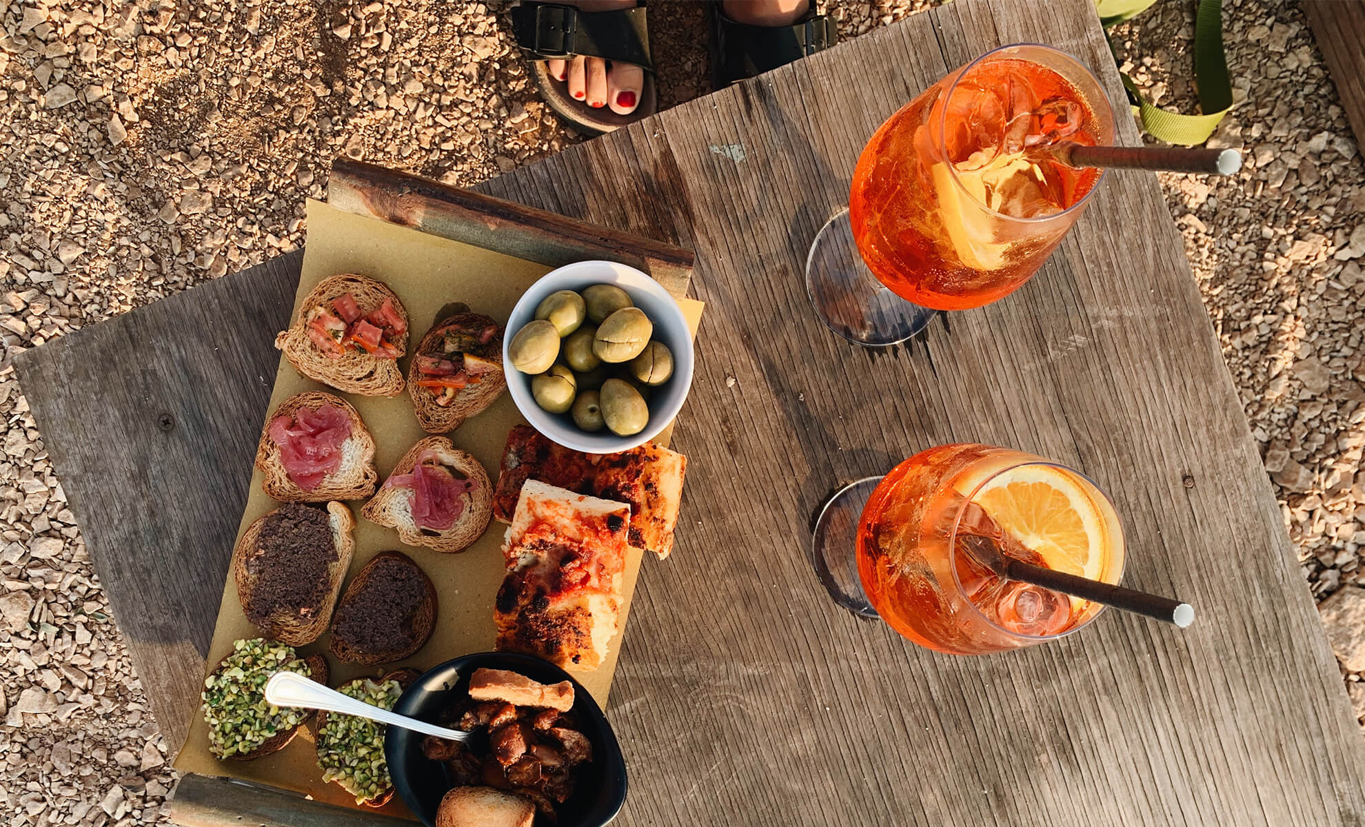 Aperitif and snack