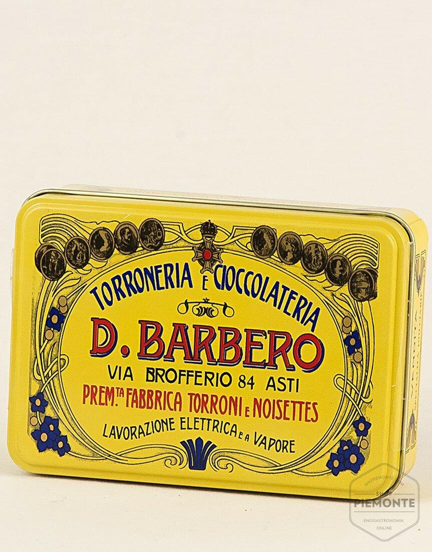 mixed pralines (Favorites, Nocciolino, Limoncello) with metal box Yellow