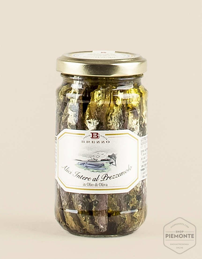 Whole anchovies with parsley