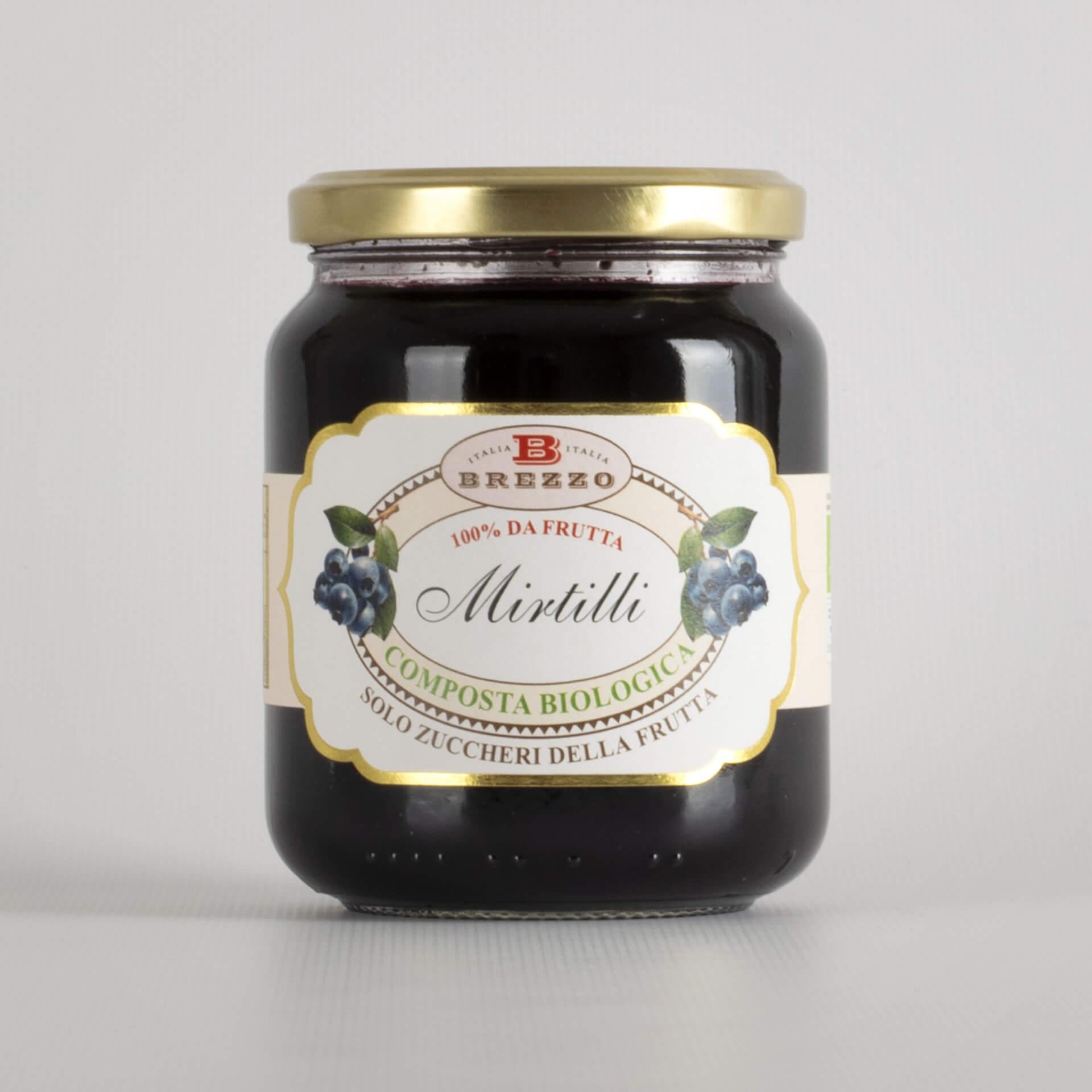 Organic Blueberries jam without sugar