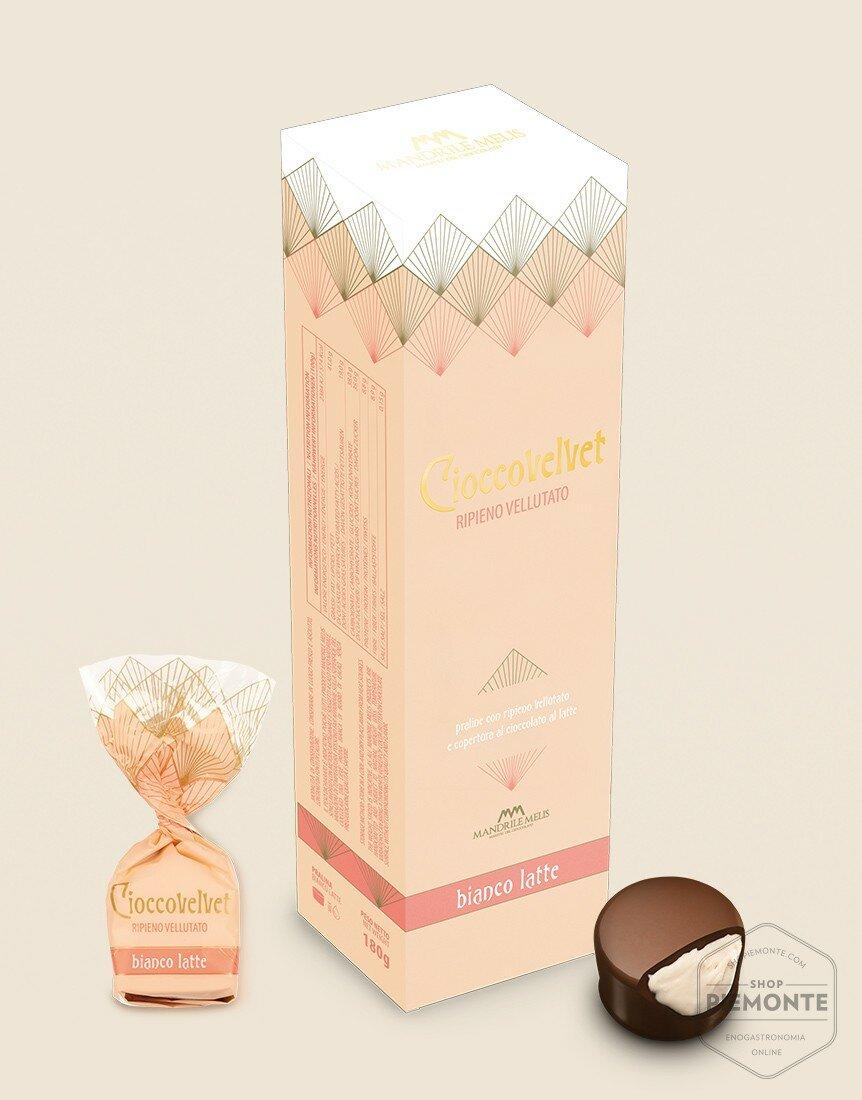 Astuccio Cioccovelvet Bianco latte 180g