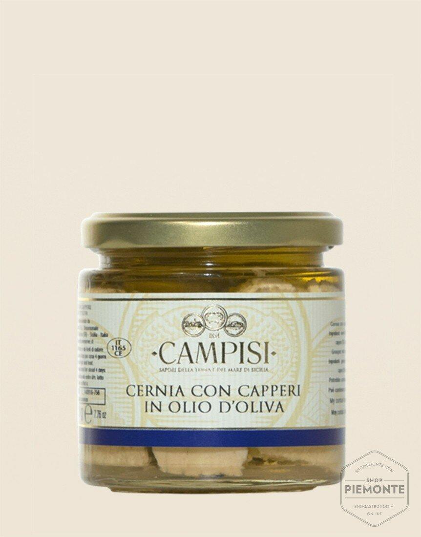 Cernia con Capperi in Olio d'Oliva