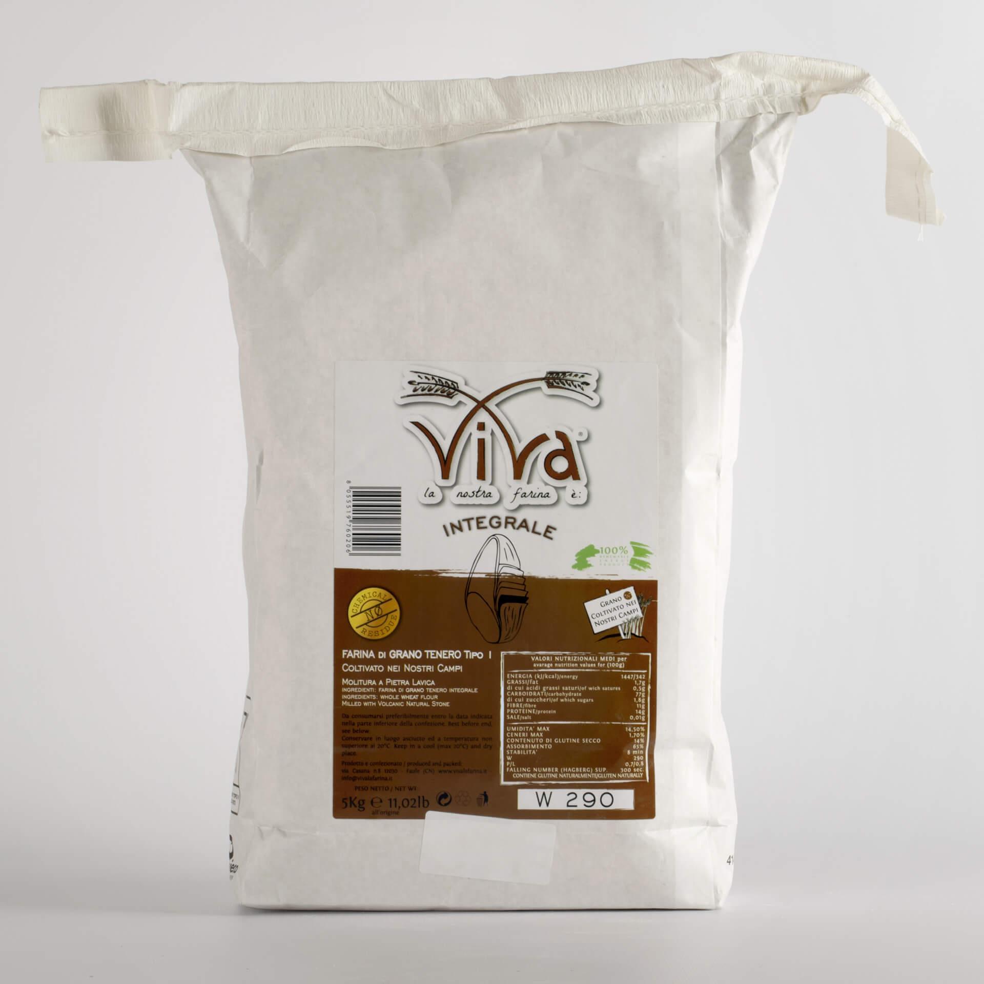 Farina di Grano Tenero Integrale 5 kg