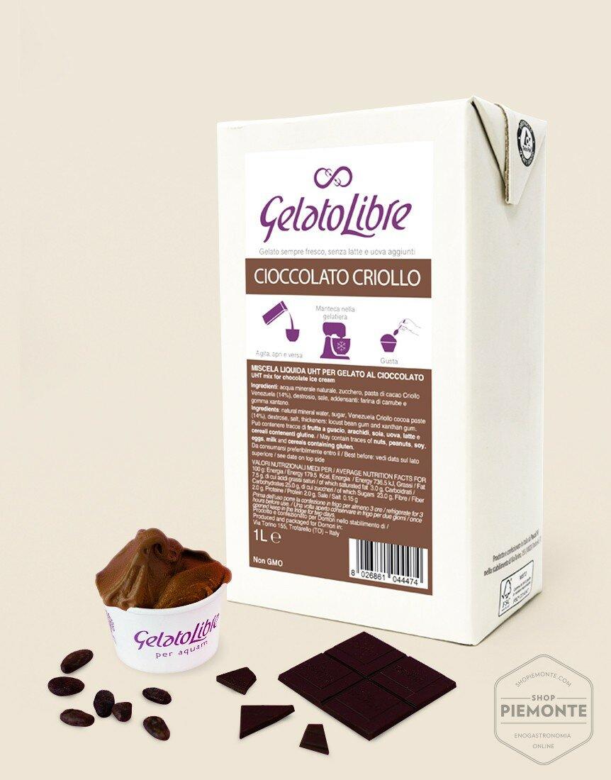 Prepared for Criollo Chocolate flavor ice cream