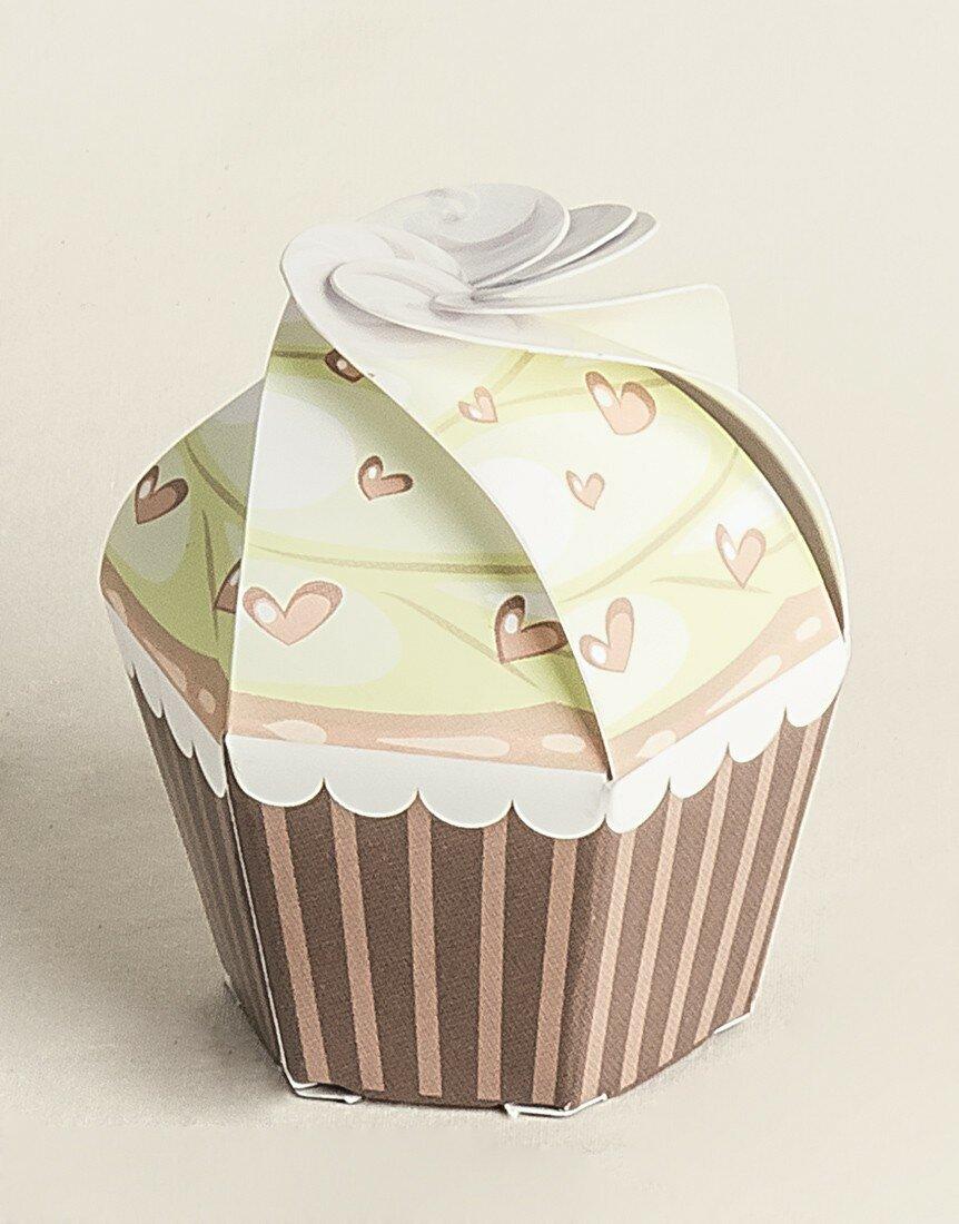 Cupcake Verde con Cuori 20 pz