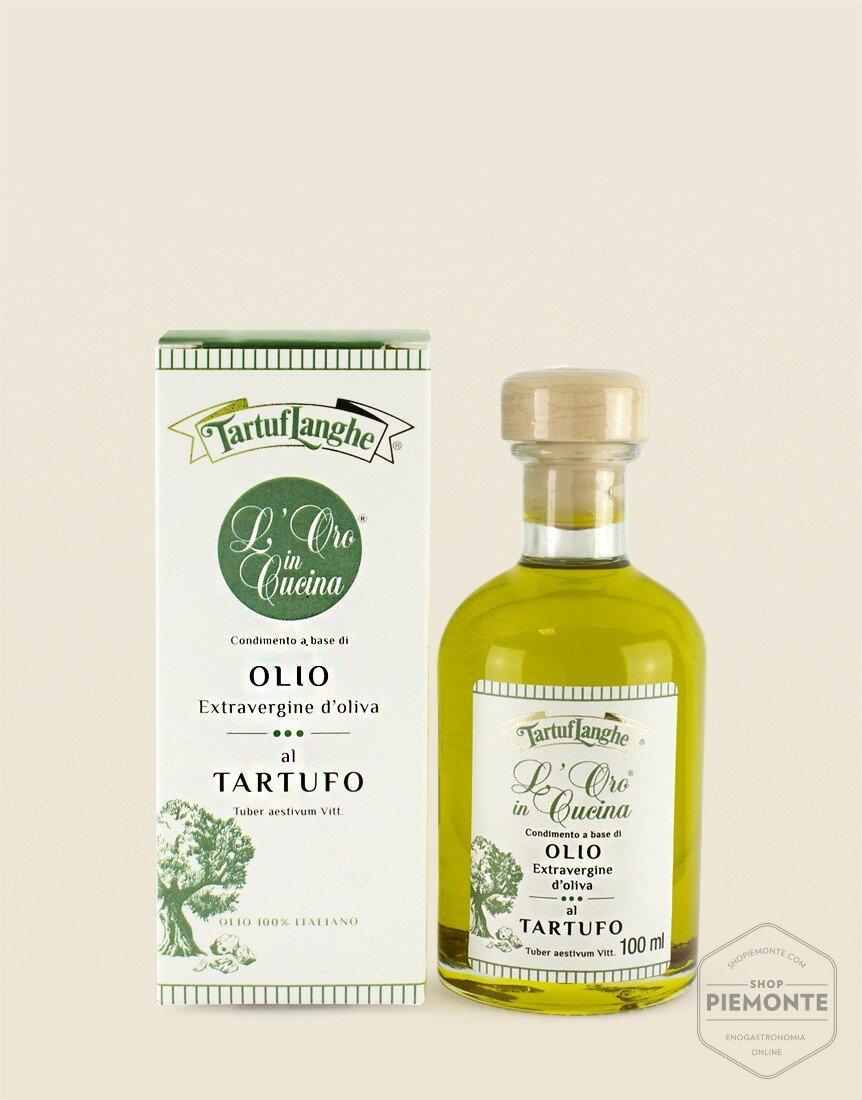 Olio extravergine di oliva con Tartufo Nero Estivo in fette