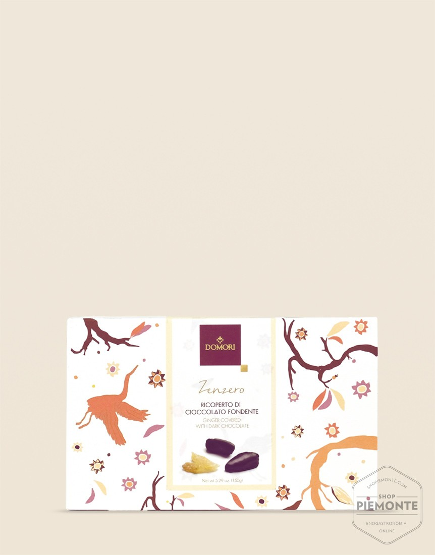 Filetti di Zenzero ricoperti di Cioccolato Fondente Domori 150gr
