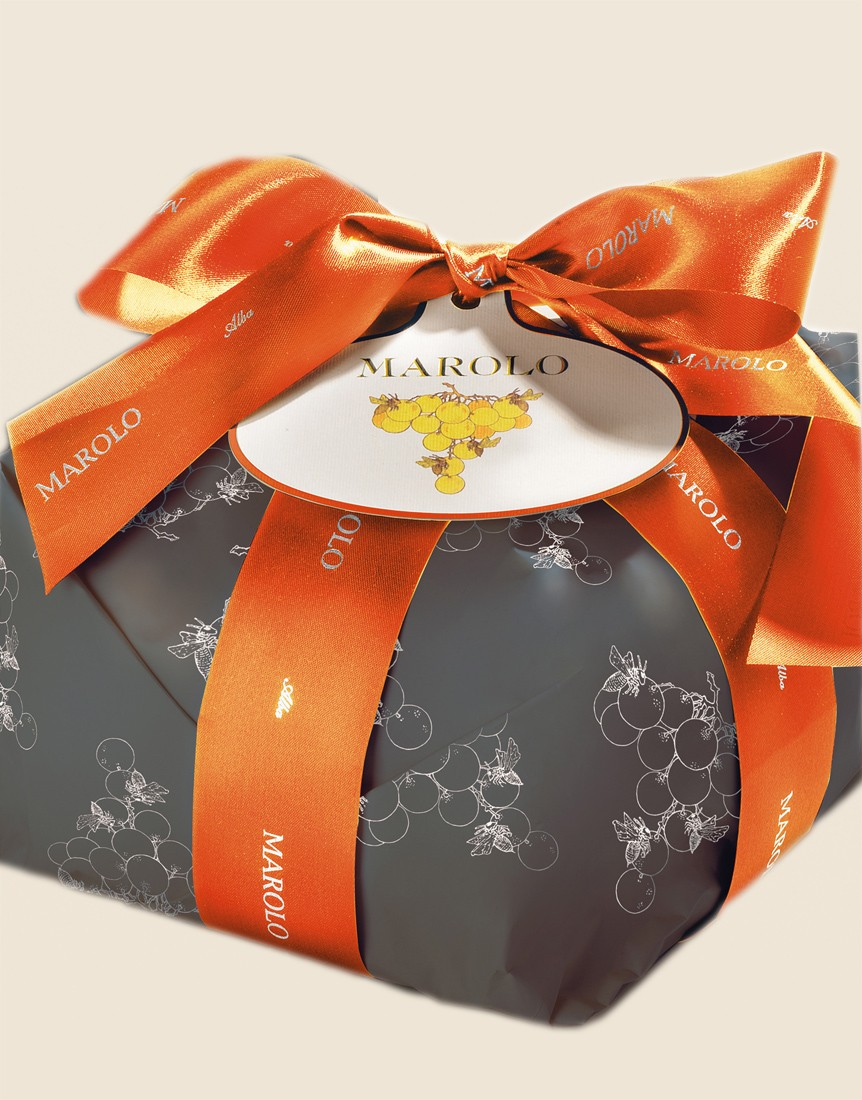Panettone with Grappa Moscato Luxury wrapping 1kg