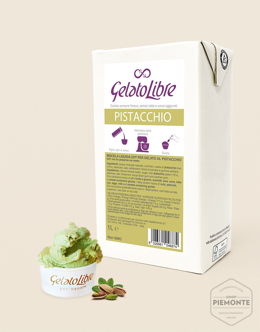 Prepared for Pistachio flavor ice cream