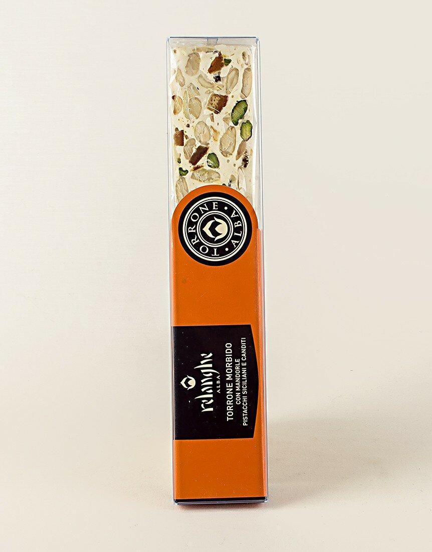 Torrone Morbido con Mandorle, Pistacchi e Canditi 150 gr
