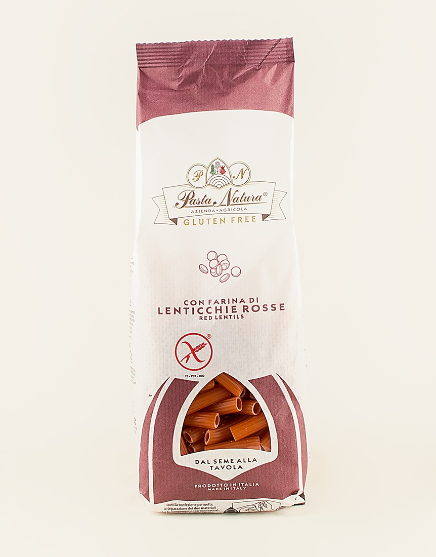 Gluten-free 100% Red Lentil Flavoured Macaroni