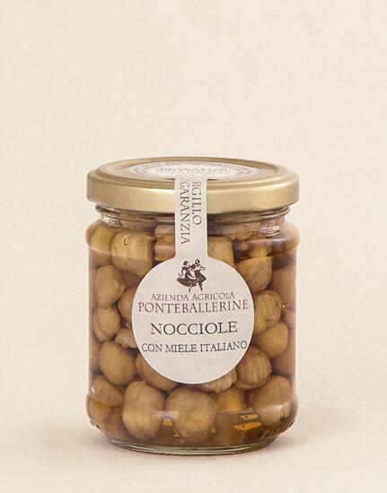 Hazelnuts in Acacia Honey 225g