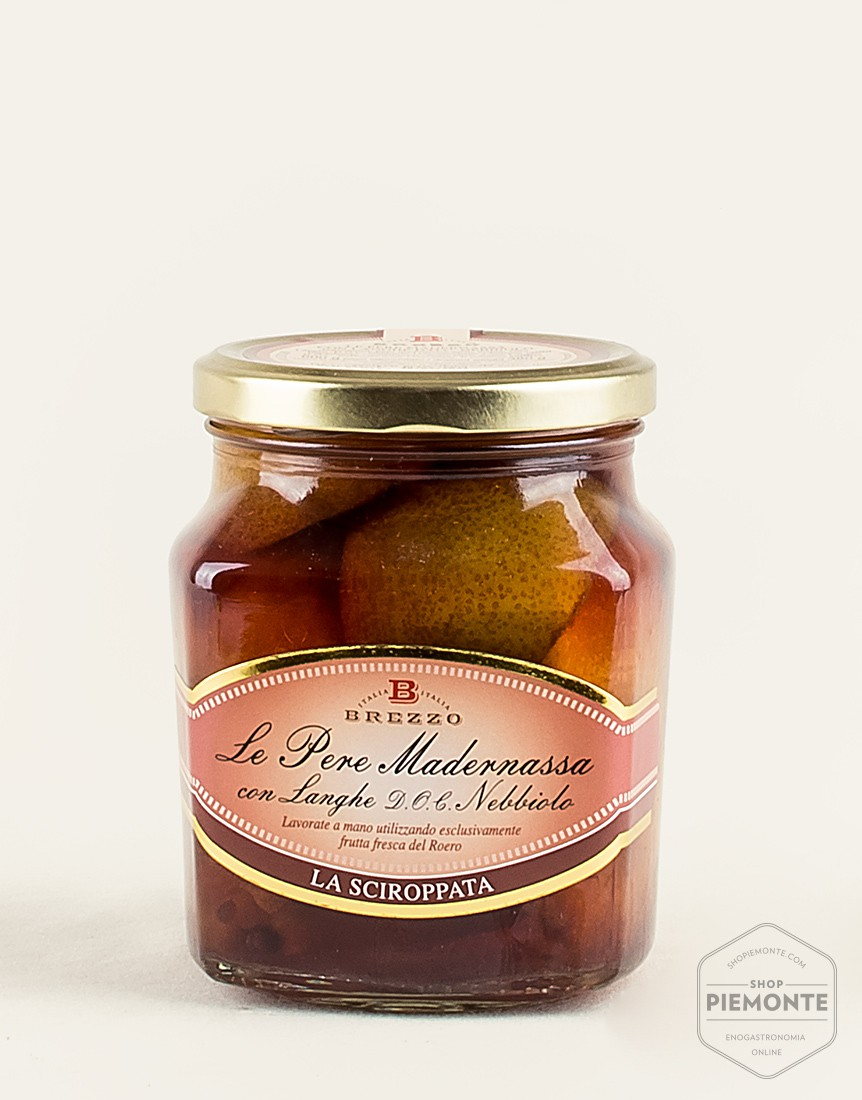 Madernassa pears with Nebbiolo in syrup